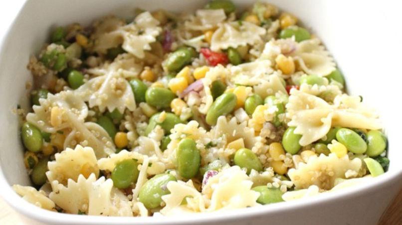 Pasta, Quinoa and Edamame Salad