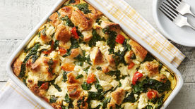 Spinach, Feta and Egg Bubble-Up Bake