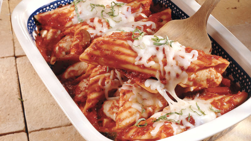 Super-Easy Chicken Manicotti for a Crowd