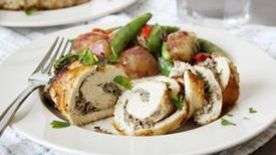 Chevre and Mushroom Stuffed Chicken