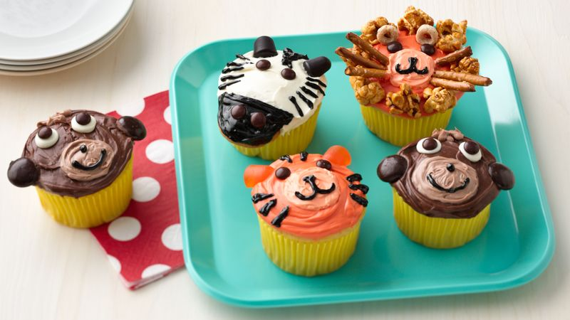 Jungle Animal Cupcakes Recipe Bettycrocker Com