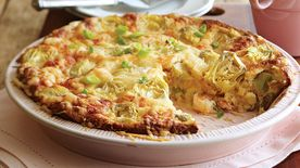 Shrimp and Artichoke Quiche