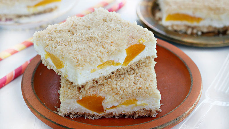 Peaches and Cream Cookie Bars