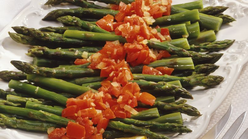 Asparagus with Pesto Arrabiata