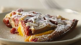 Easy Cherry and Peach Clafoutis