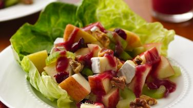 Apple-Walnut Salad with Cranberry Vinaigrette
