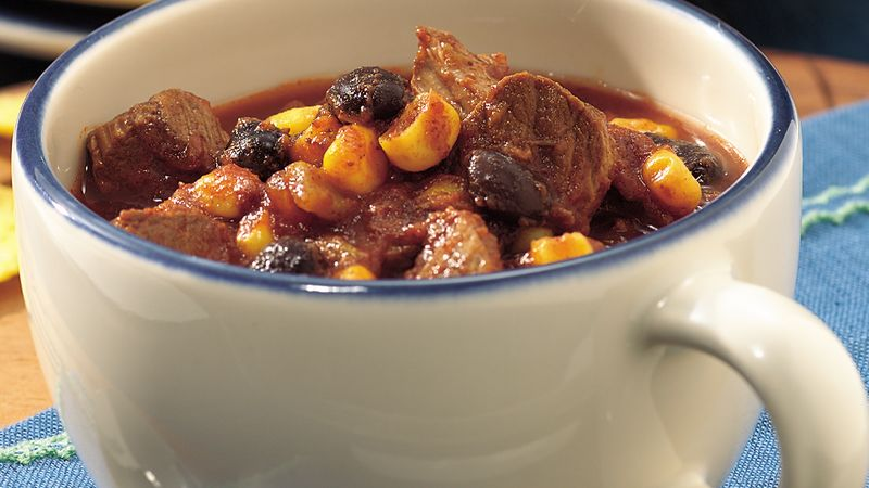 Slow Cooker Spicy Southwest Beef And Bean Chili Recipe Bettycrocker Com