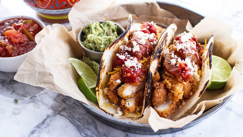 Southern Fried Chicken Tacos Recipe Tablespoon