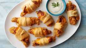 Chicken-Bacon-Ranch Crescent Roll-Ups