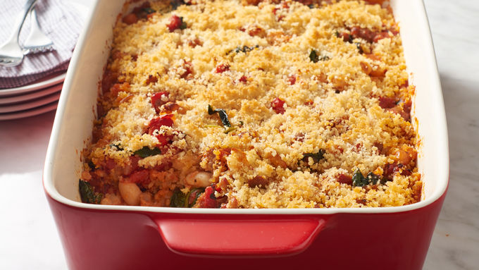 White Bean, Sausage and Spinach Casserole