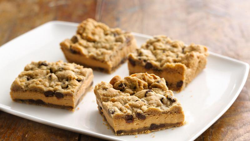 Chocolate Chip Peanut Butter Squares Recipe Pillsbury Com