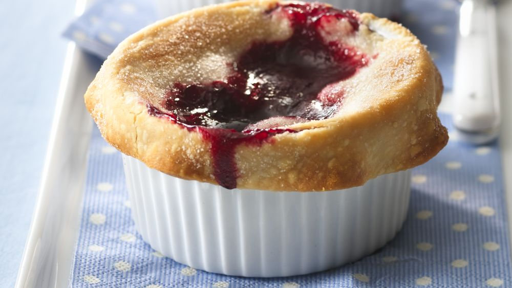 Individual Mixed-Berry Pies