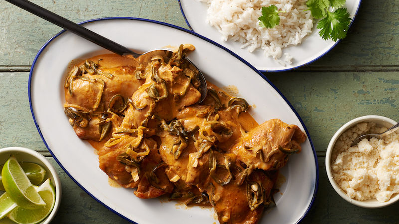 Slow-Cooker Poblano Chicken