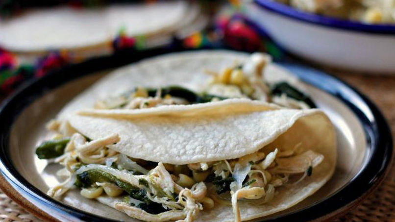 Poblano Chicken Tacos