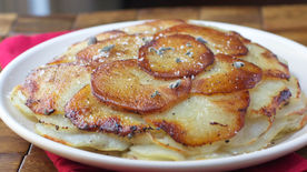 Potatoes Anna with Apples and Sage