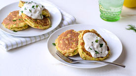 Chicken and Vegetable Pancakes