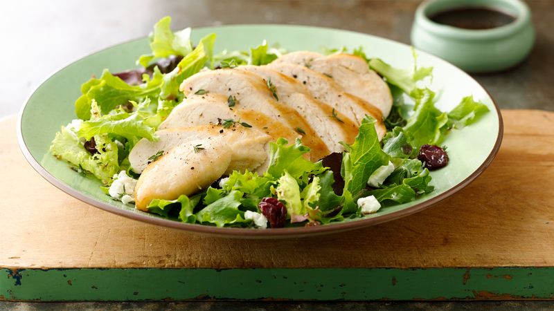 Gluten-Free Quick Chicken Salads with Cherries and Cheese