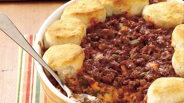Biscuit Cheeseburger Casserole