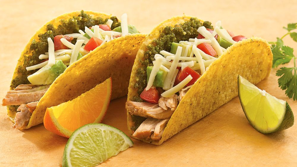 Mexican Pesto-Pork Tacos
