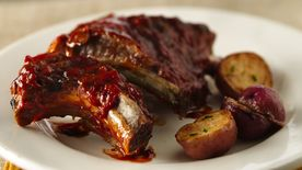 Slow-Cooker Barbecued Baby Back Ribs