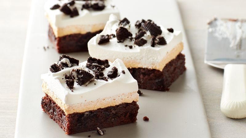 Oreo™ Pumpkin Cream Cheese Brownie Bars