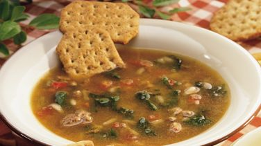 Beefy Spinach Soup