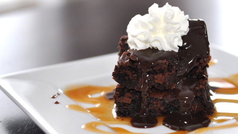 Chocolate Lava Mountain Dessert Recipe Tablespooncom