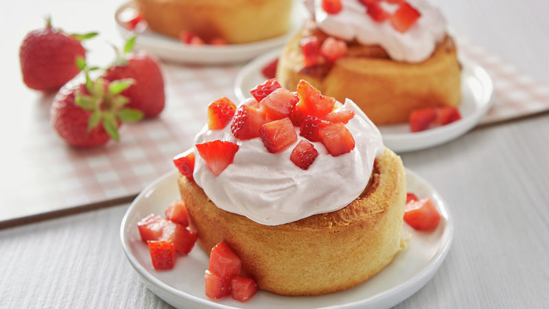 Strawberry Shortcake Cinnamon Rolls