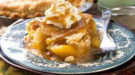 Spiced Bourbon Peach-Apple Pie