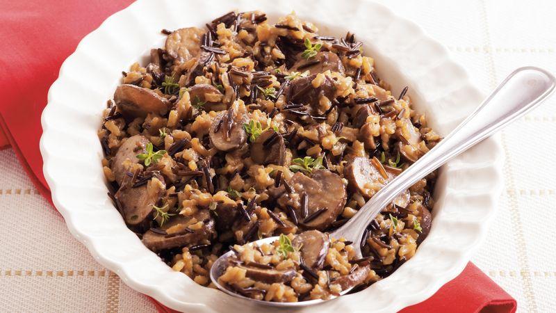 Mushroom-Wild Rice Pilaf