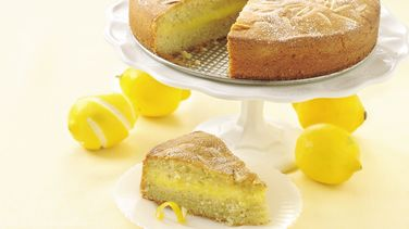 Lemon Custard-Filled Cake