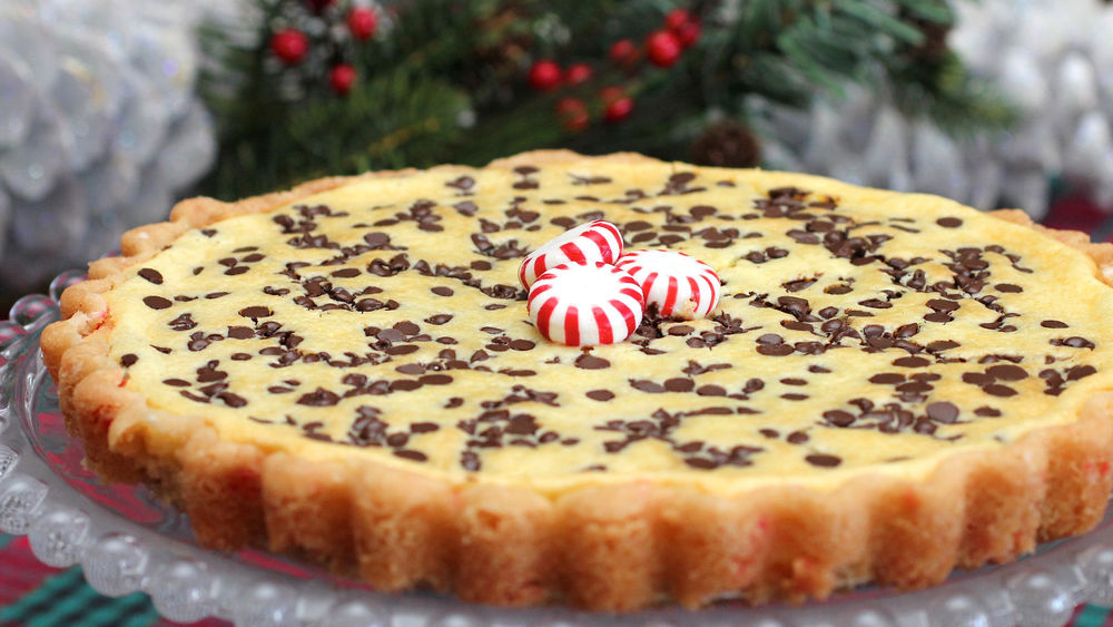 Peppermint-Chocolate Chip Cheesecake Tart