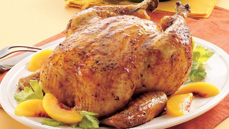 Roasted Chicken with Peach Glaze