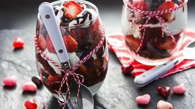 Chocolate Covered Strawberry Trifles
