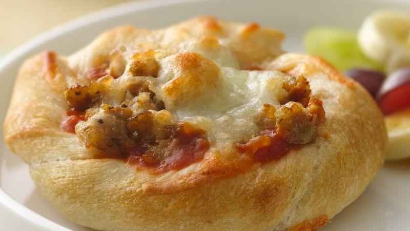Individual Sausage-Breadstick Pizzas