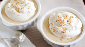Butterscotch Pudding with Maple Whipped Cream