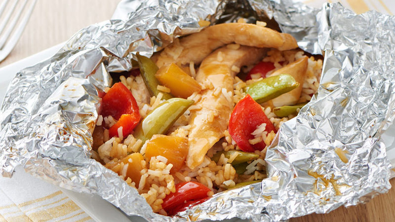 Teriyaki Chicken Foil Packs