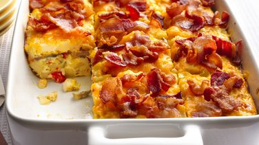 Bacon and Mushroom Hash Brown Breakfast