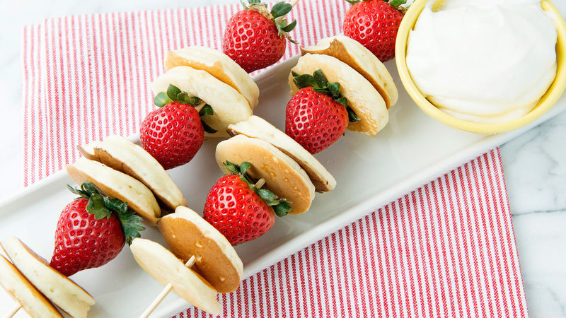 Strawberry Pancake Skewers