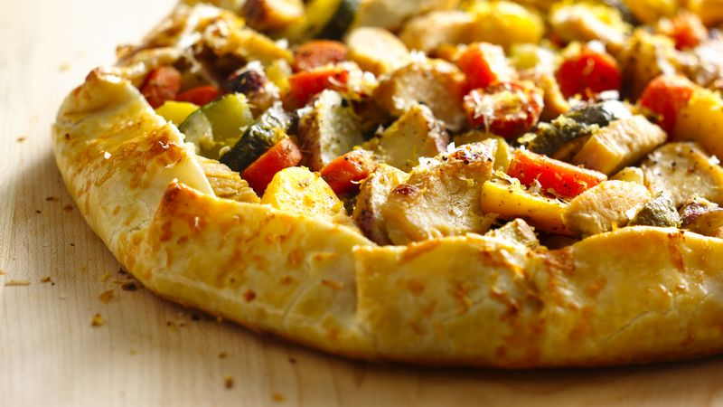 Mediterranean Chicken Vegetable Galette