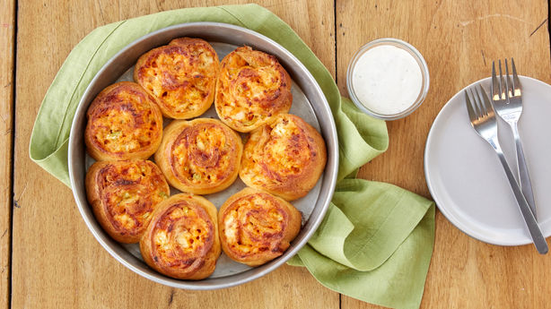 Buffalo Chicken Roll-up Bake