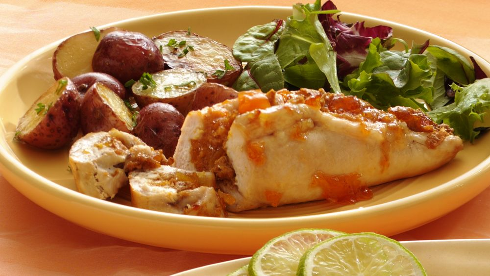 Apricot-Stuffed Chicken Breasts