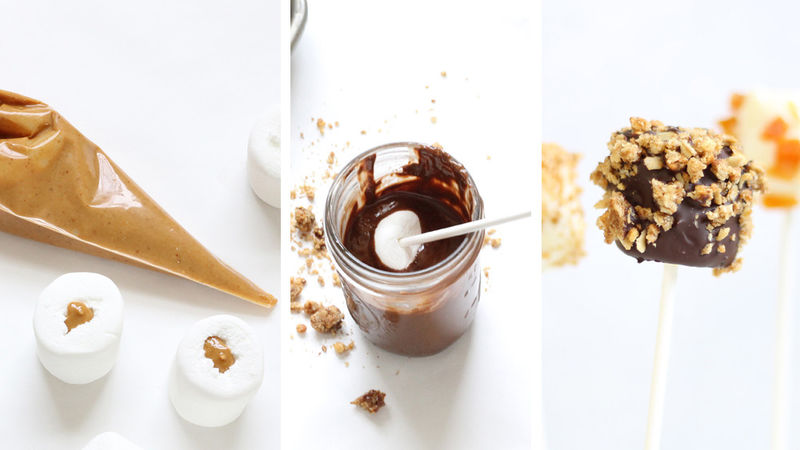 Peanut Butter-Stuffed Marshmallows