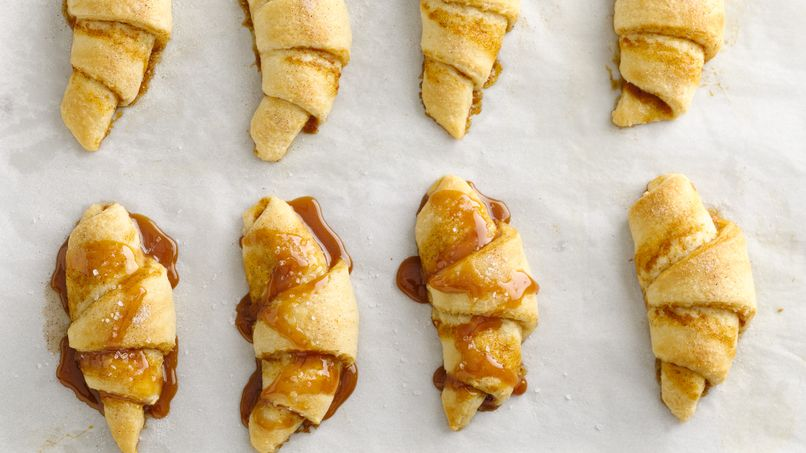 Salted Caramel Pumpkin Pie Crescents