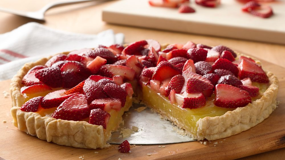 Lemon and Strawberry Tart
