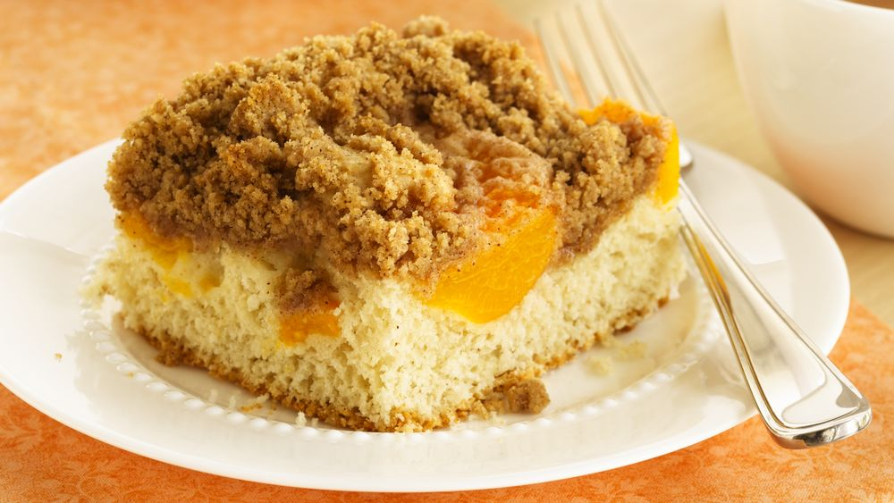 Streusel Topped Peach Coffee Cake