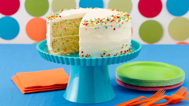 Terrific Confetti Cake Recipe Bettycrocker Com Funny Birthday Cards Online Barepcheapnameinfo
