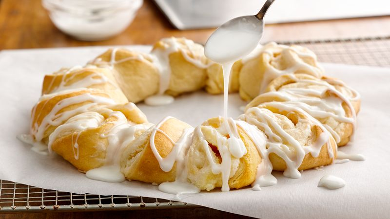Lemon Cream Cheese Crescent Ring Recipe Pillsbury Com