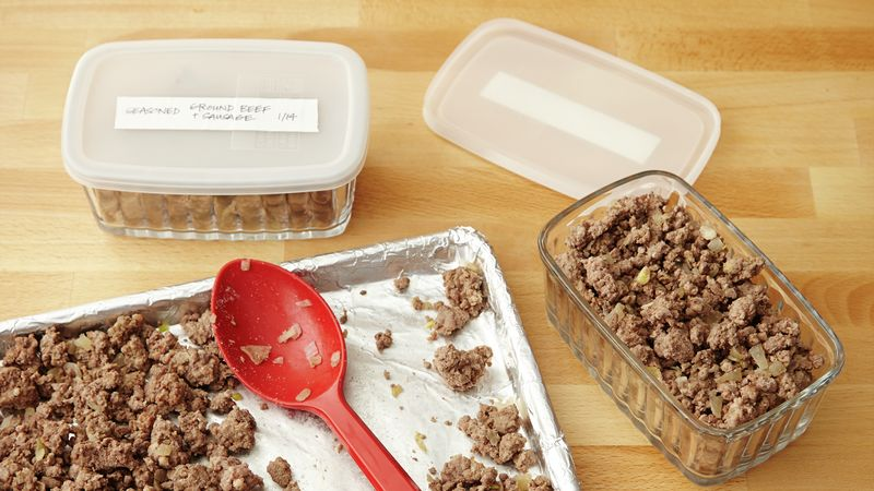 Make-Ahead Seasoned Ground Beef and Sausage