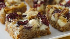 White Chocolate Cranberry Layer Bars